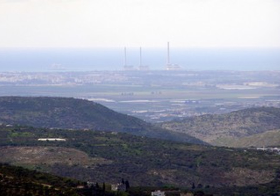Hadera Power Station  as seen from 'Palestine'