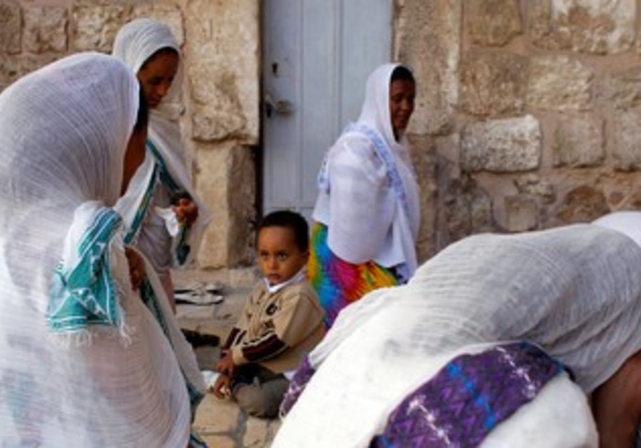 Ethiopians at Church of the Holy Sepulchre