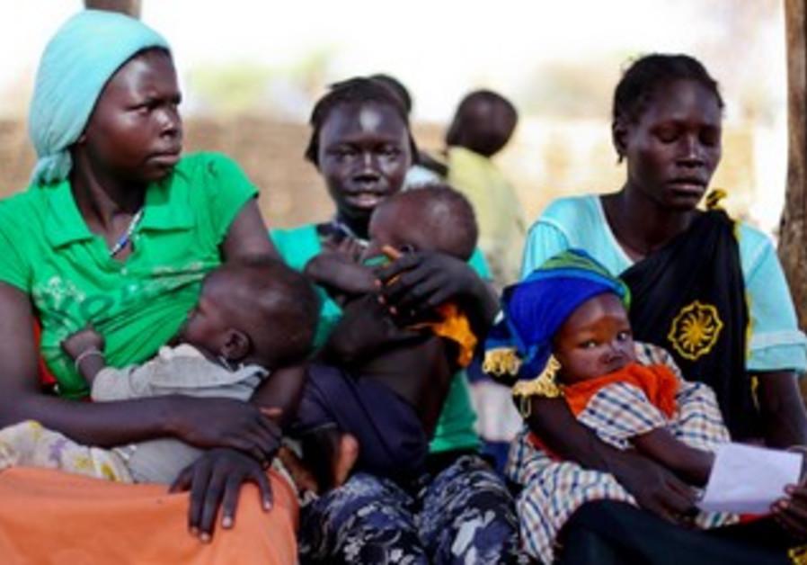 Sudanese refugees in Doro refugee camp