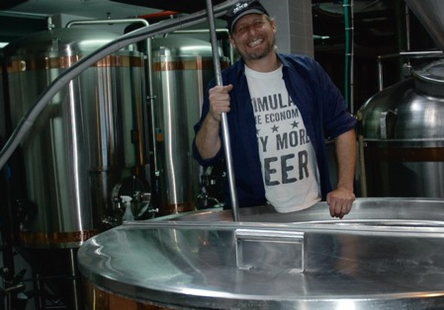 Jeremy Welfeld brewing beer