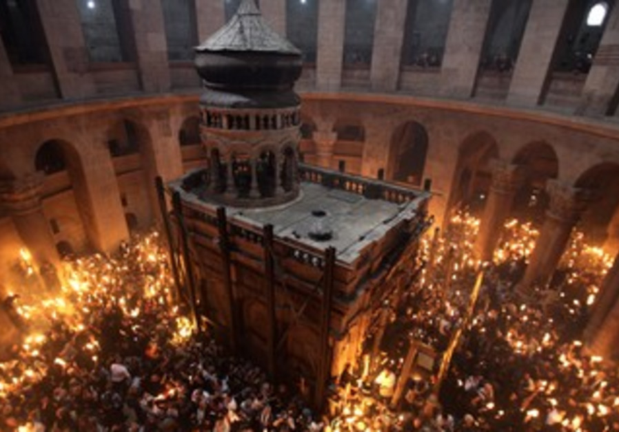 Church of Holy Sepulchre during Holy Fire Ceremony