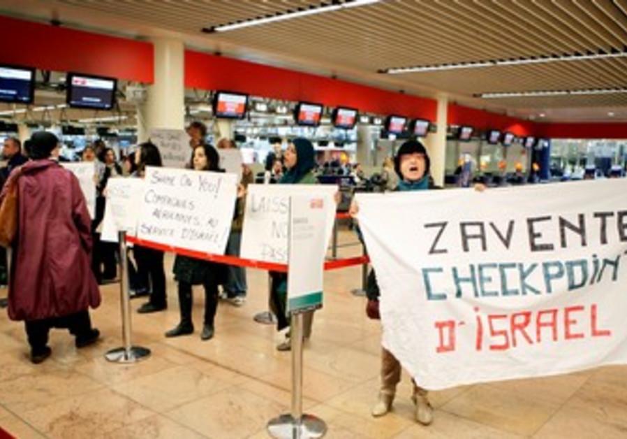 Flytilla protest in Brussels
