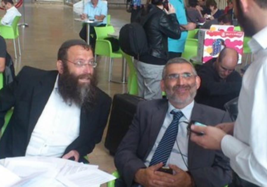 Baruch Marzel and MK Michael Ben-Ari at airport