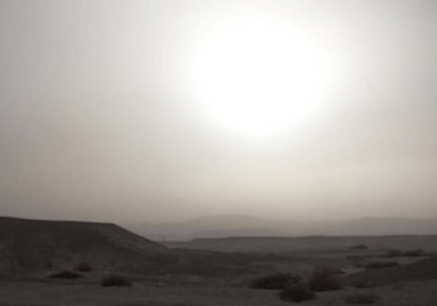 Sandstorm in Negev