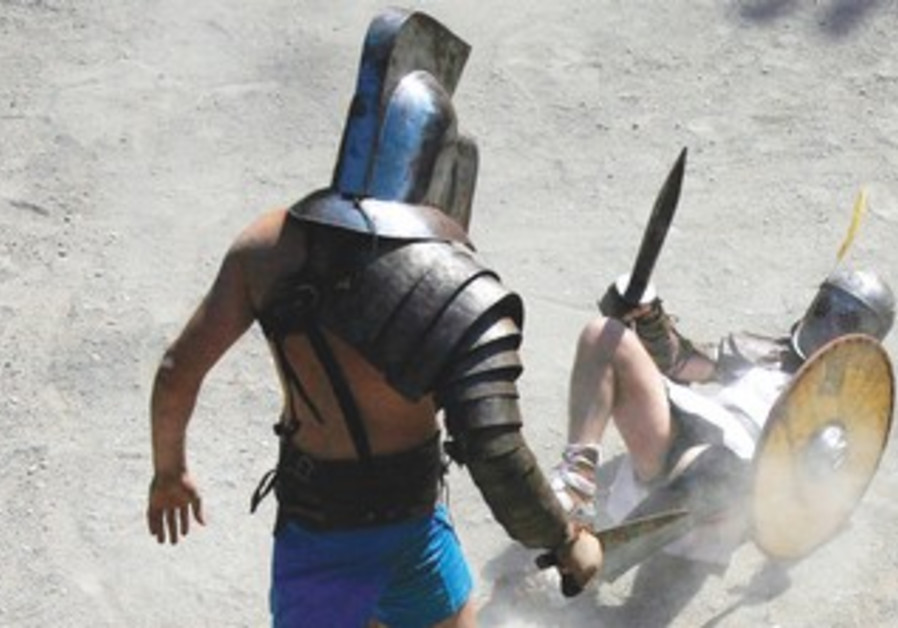 Gladiator fighting school event  in Rome