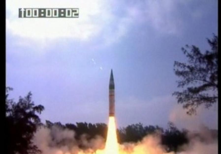 India tests long-range missile.