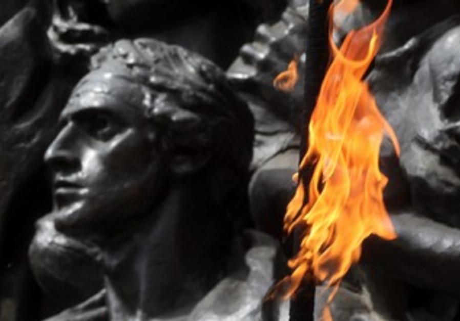 Holocuast memorial flame