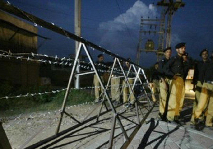 Pakistani police at Islamabad's airport