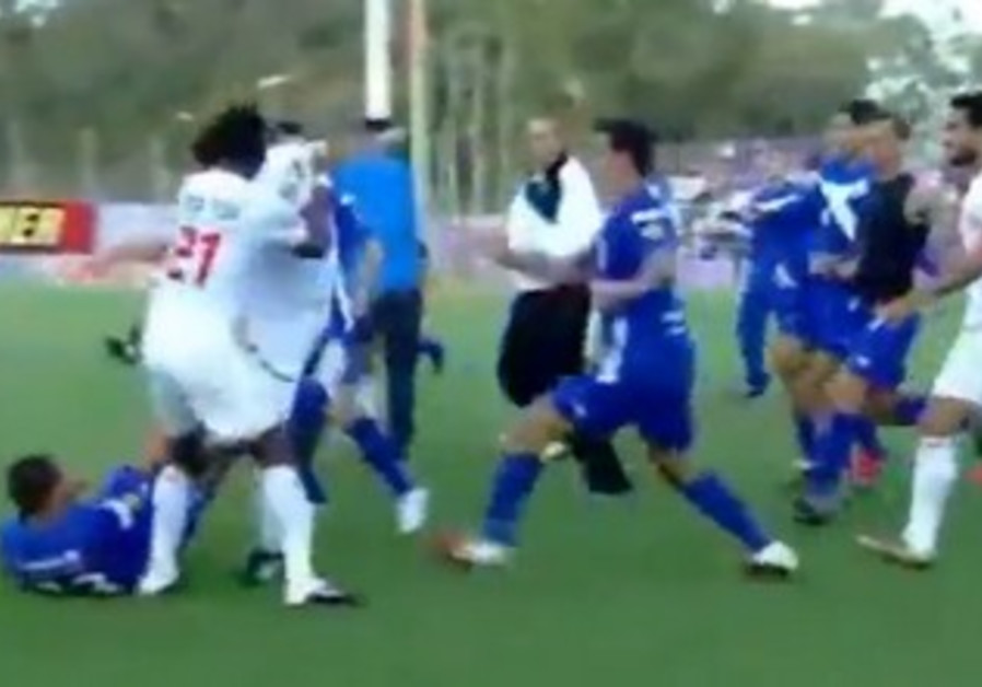 Soccer brawl- Hapoel Ramat Gan and Bnei Lod