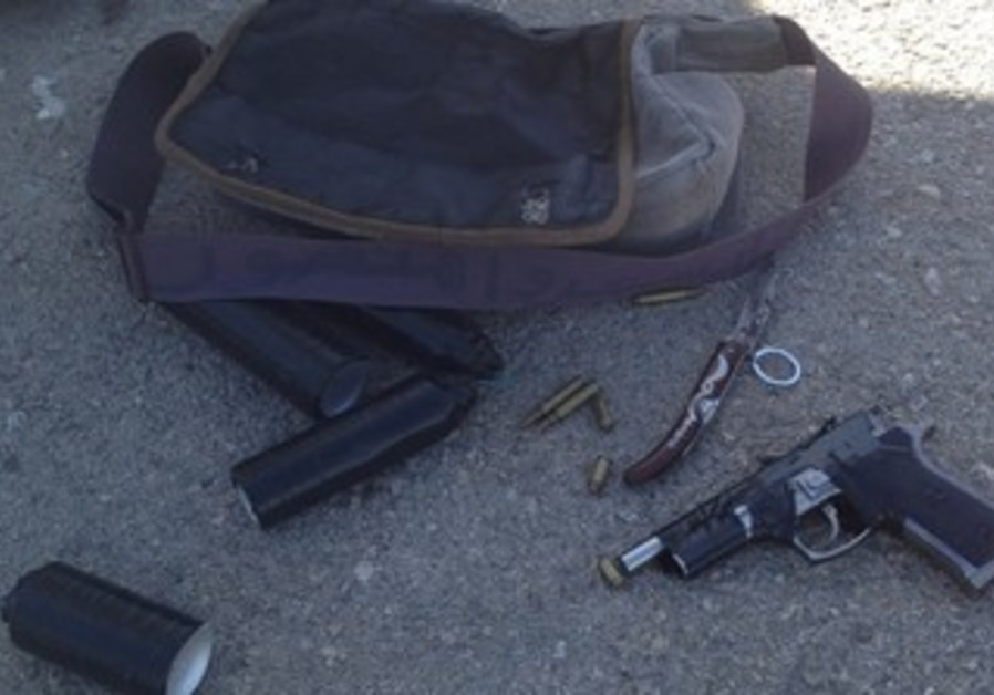 Weapons seized at Tapuah Junction