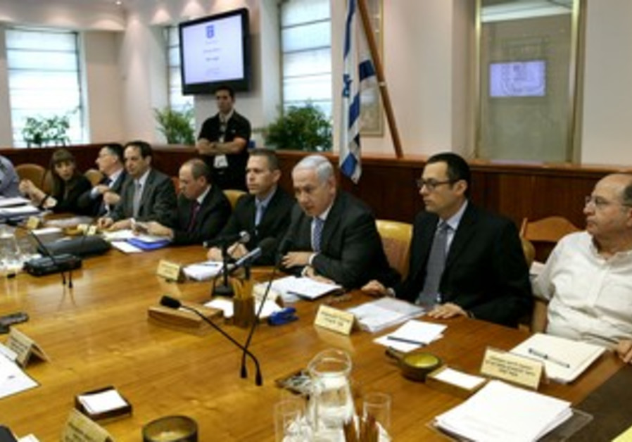 Netanyahu speaks at Cabinet meeting