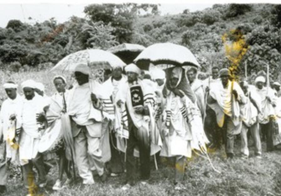 Ruth KatzJews in an Ethiopian village in processio