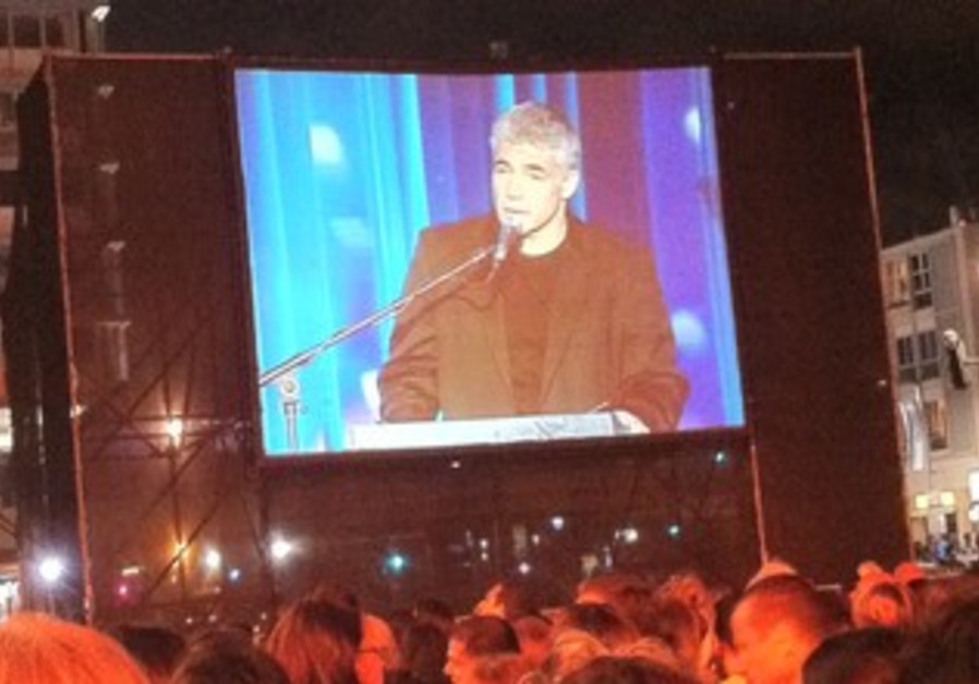 Yair Lapid hosts Yom hazikaron ceremony at Rabin S