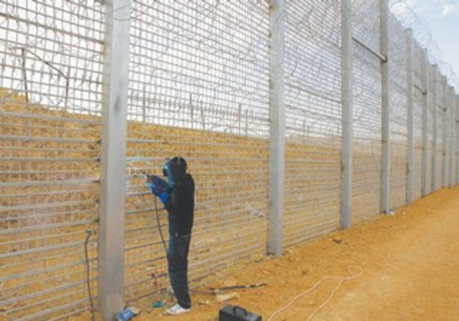 Construction of a barrier on the border with Egypt