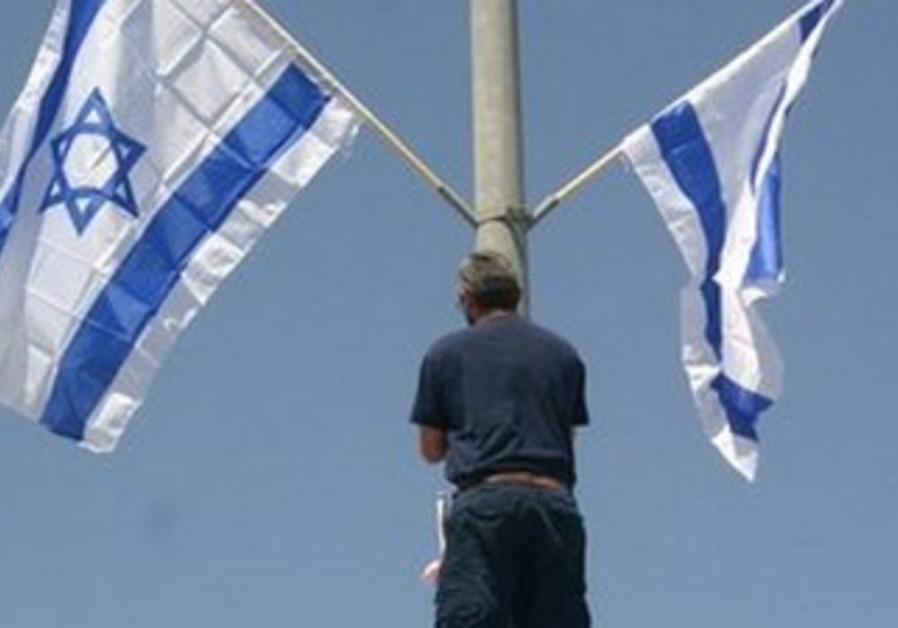 Beit Shemesh resident erects Israeli flag