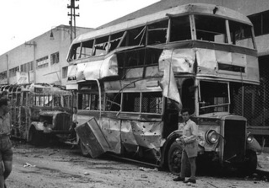 TA Double-decker bus bombed by Egyptians