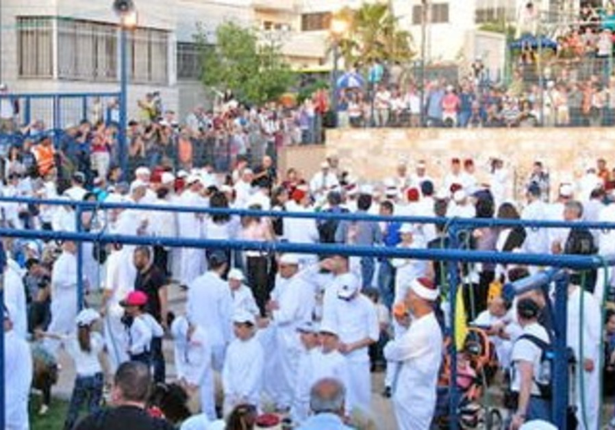 Samaritans gathering at Mt. Gerazim