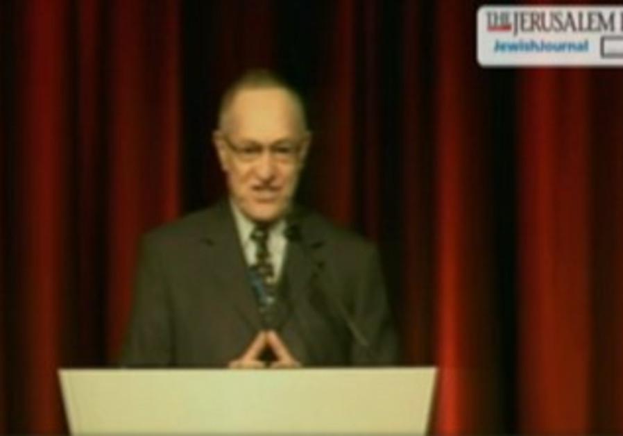 Alan Dershowitz at Jpost Conference