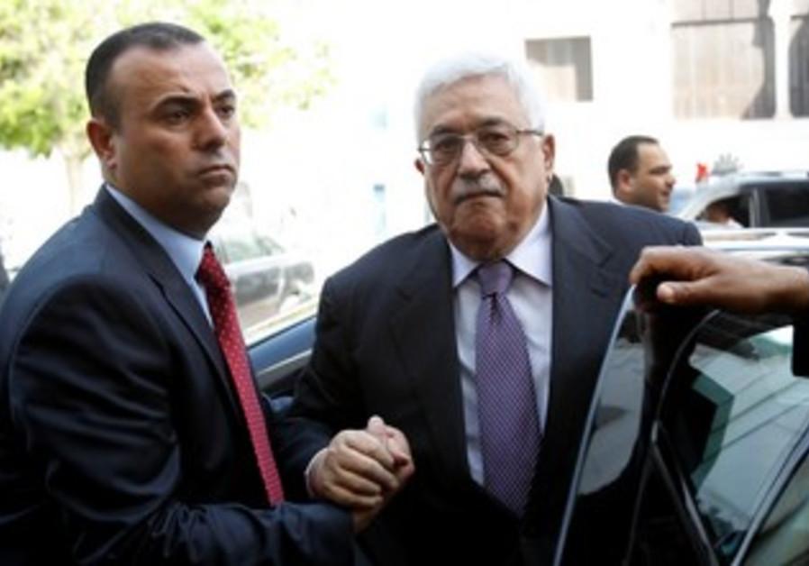 PA President Mahmoud Abbas arrives in Tunisia
