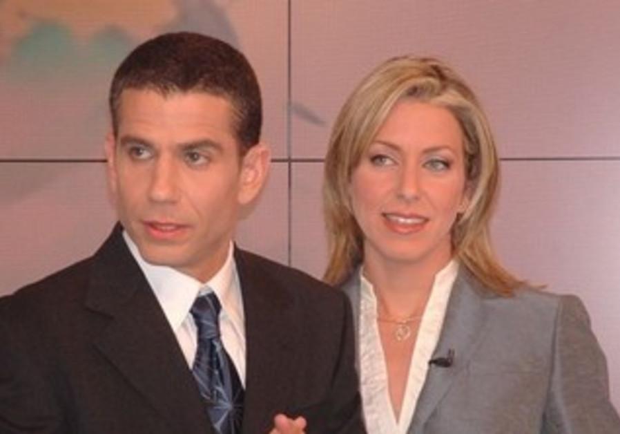 Mabat News anchors Merav Miller, Yinon Magal