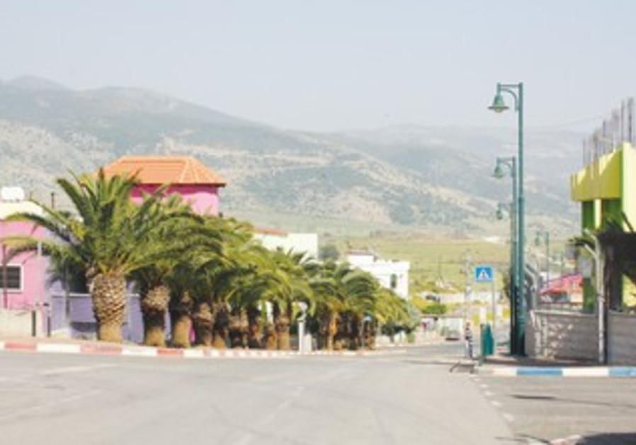 Lebanese-Israeli bordertown of Ghajar