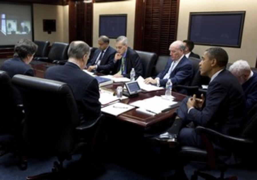 President Obama, Denis Mcdonough and others