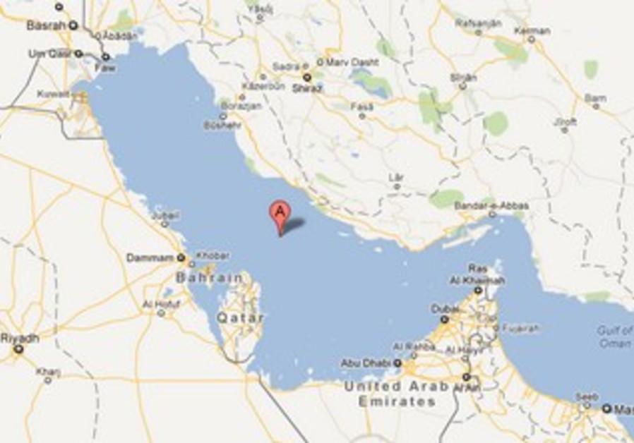 The Persian Gulf on Google Maps.