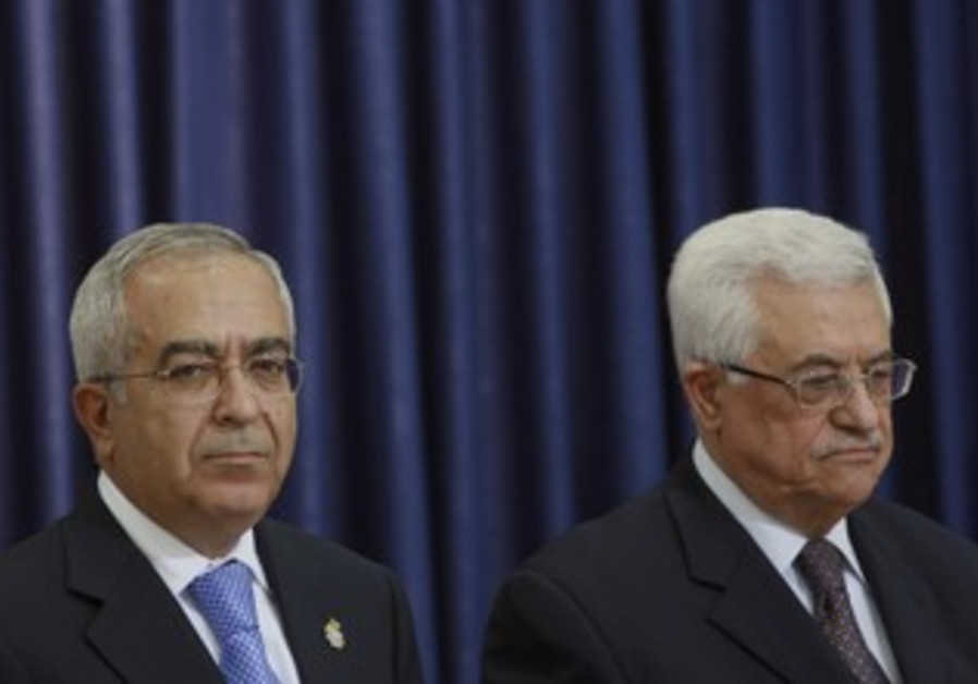 PA President Abbas and PM Fayyad [file]