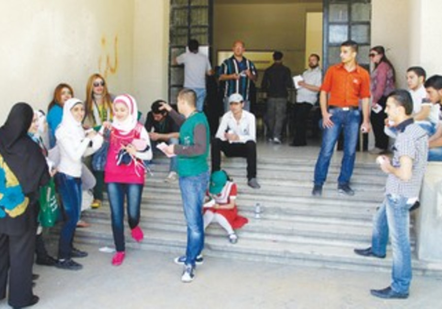 polling station in Damascus