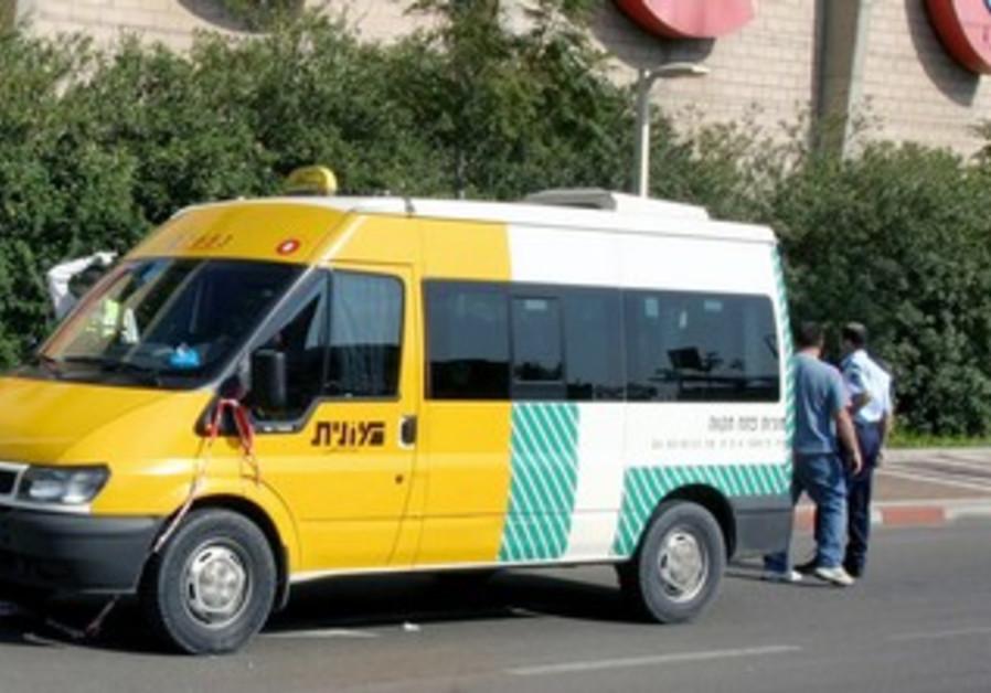 Minibus in Israel [illustrative]