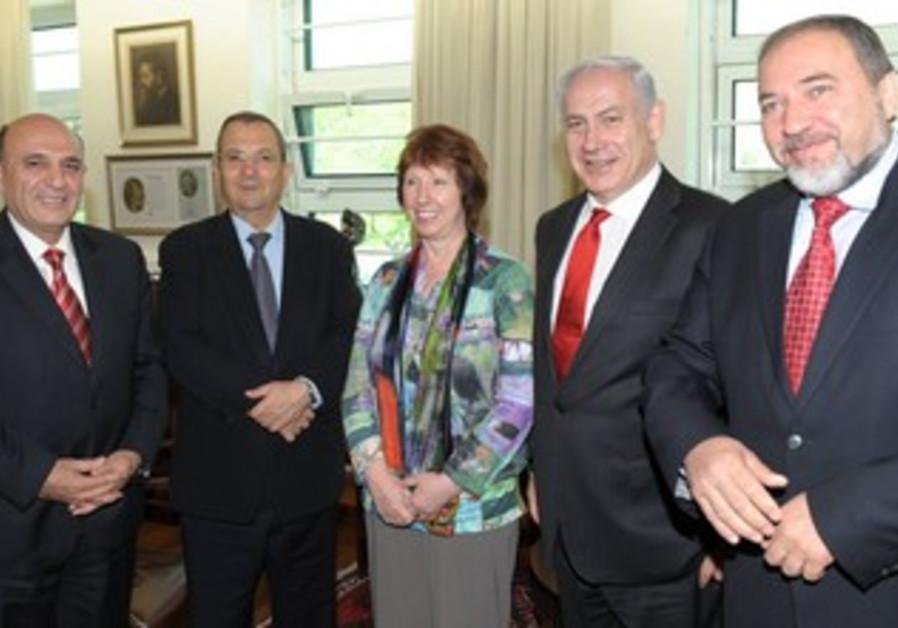 Mofaz, Barak, Ashton, Netanyahu, Liberman
