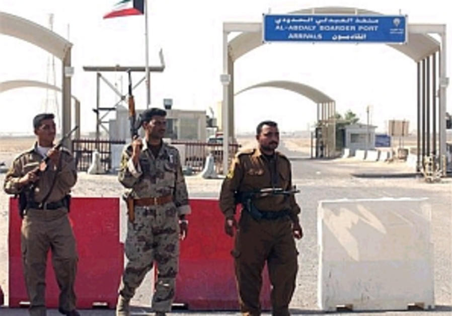 iraq kuwait border being guarded 298.88