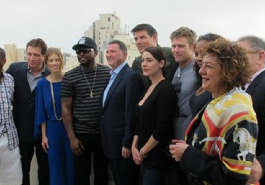 America's Voices tour participants in Jerusalem