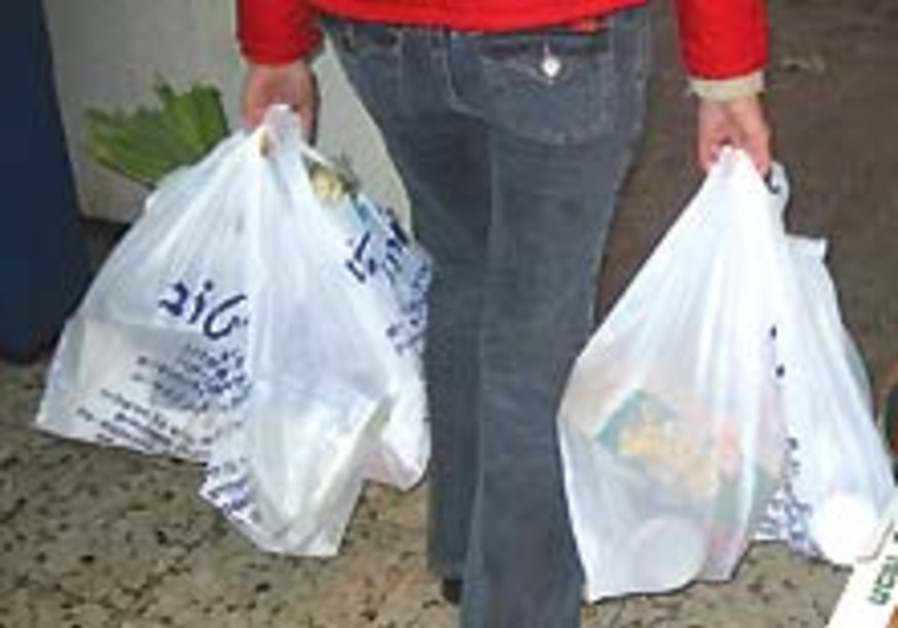 Bagging the plastic