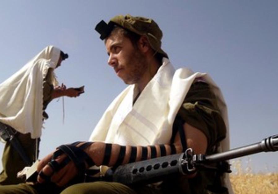 Haredi IDF soldiers in the Jordan Valley