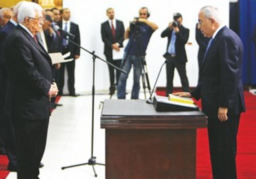 PA PRIME MINISTER Salam Fayyad sworn in