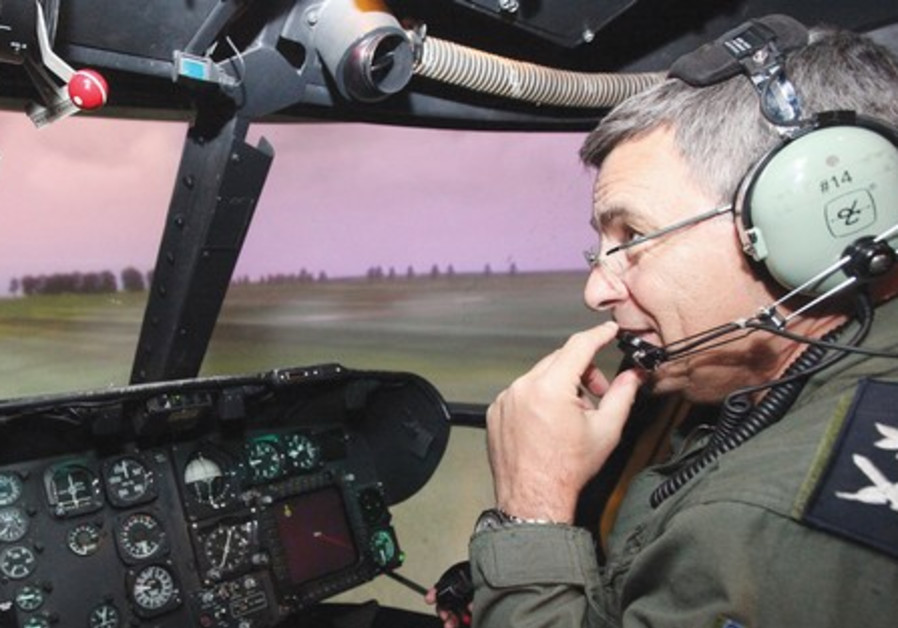 Nehushtan in cockpit of Cobra attack helicopter