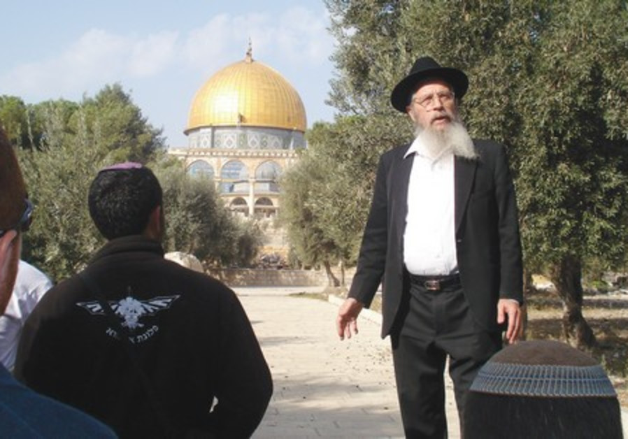 YISRAEL ARIEL giving a tour of the Temple Mount
