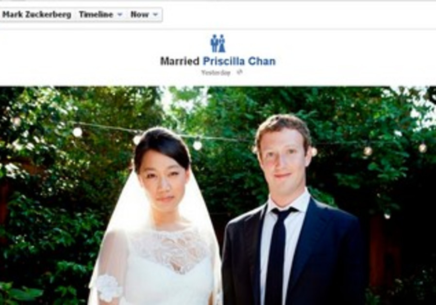 Zuckerberg announces marriage on Facebook page