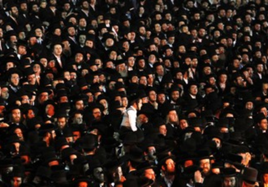 Haredi men gather [file]