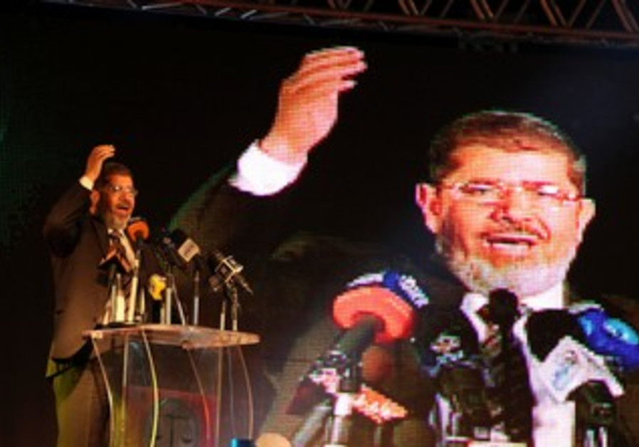 Muslim Brotherhood candidate Mohamed Mursi