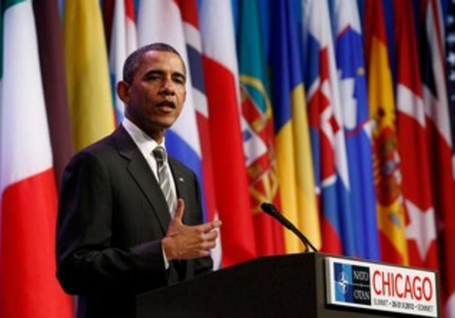 US President Barack Obama at NATO conference