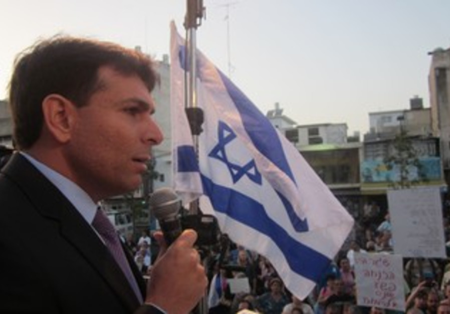 Danny Danon speaks at anti-infiltrator rally