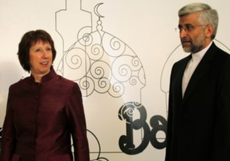 Catherine Ashton, Iranian negotiator Saeed Jalili