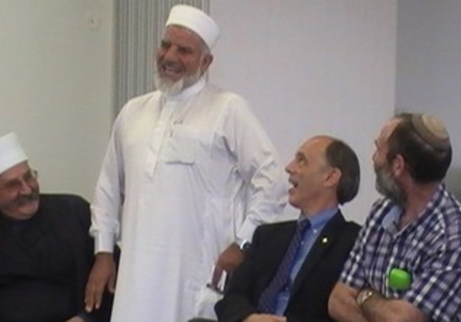 Religious leaders at Ma'aleh Gilboa yeshiva