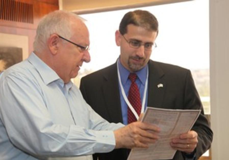 Rivlin and US envoy Shapiro