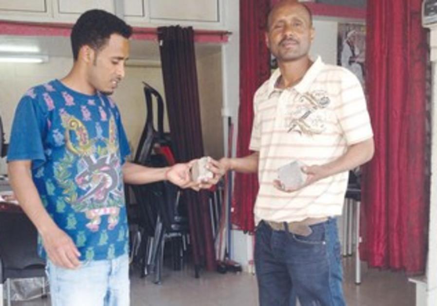 Vandalized Eritrean migrants in Tel Aviv