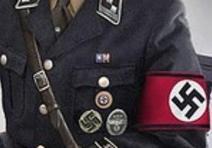 Nazi uniform with swastika armband.