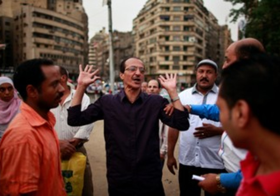 Egyptians argue elections in Tahrir Square