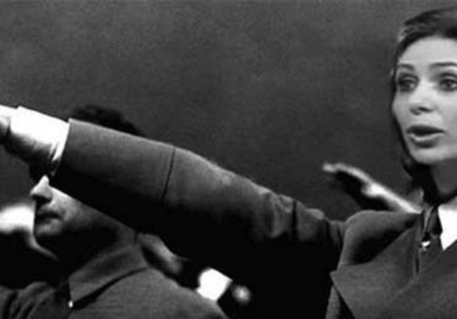 Miri Regev photo-shopped doing Nazi salute